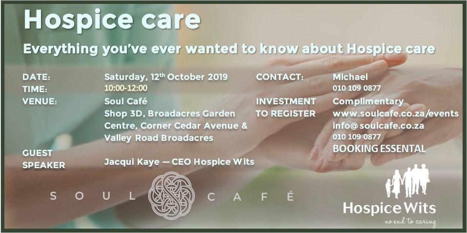 Hospice Care Talk 12 October 2019